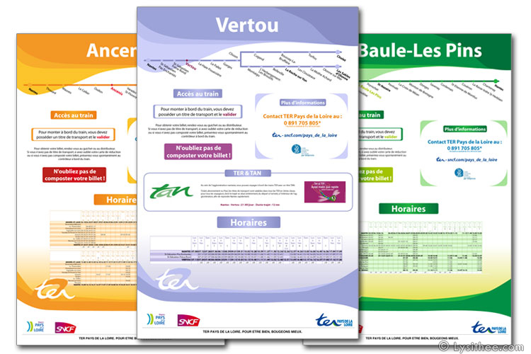 Affiche Informations Gare TER SNCF