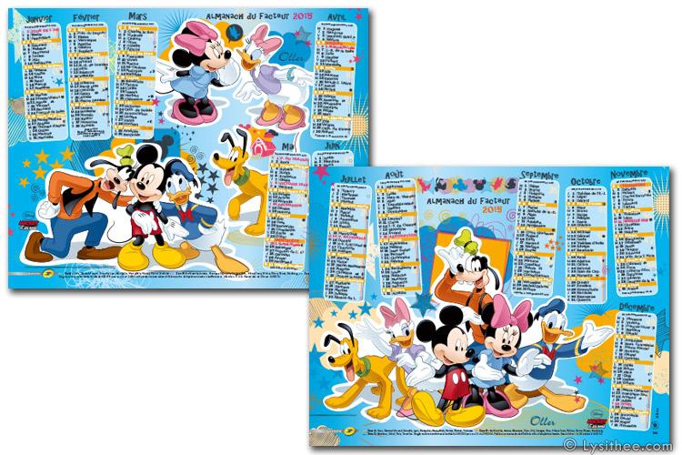 Calendrier de la Poste Mickey et ses amis