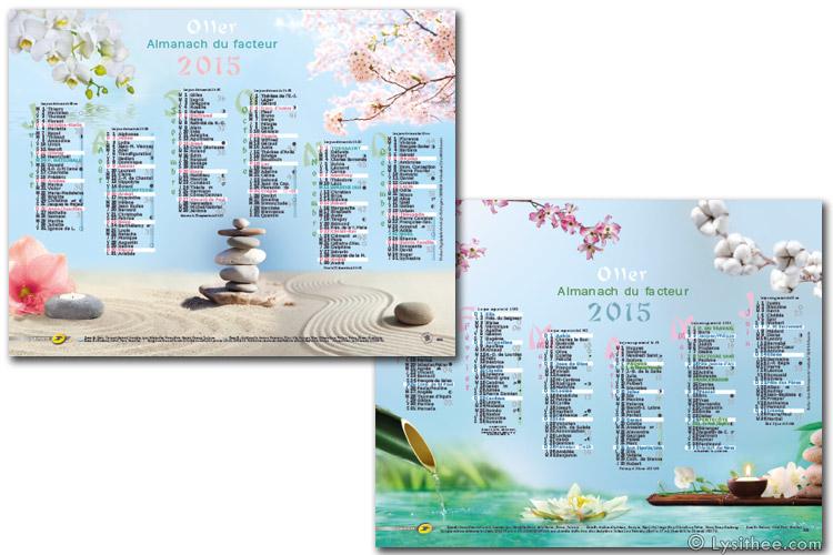 Calendrier de la Poste Zen