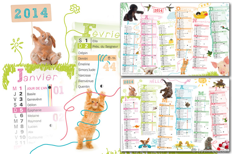 Calendrier Animaux Farceurs