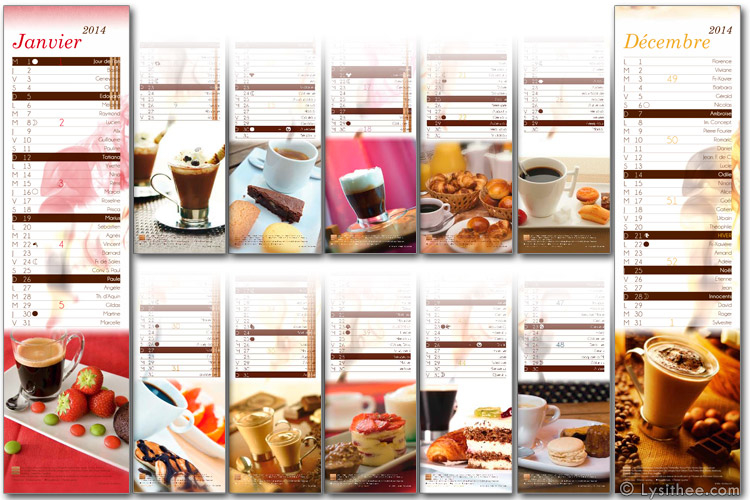 Calendrier Café Gourmand