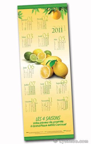 Calendrier Citrons