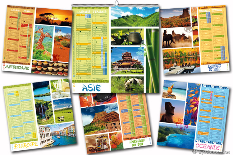 Calendrier Continents Express