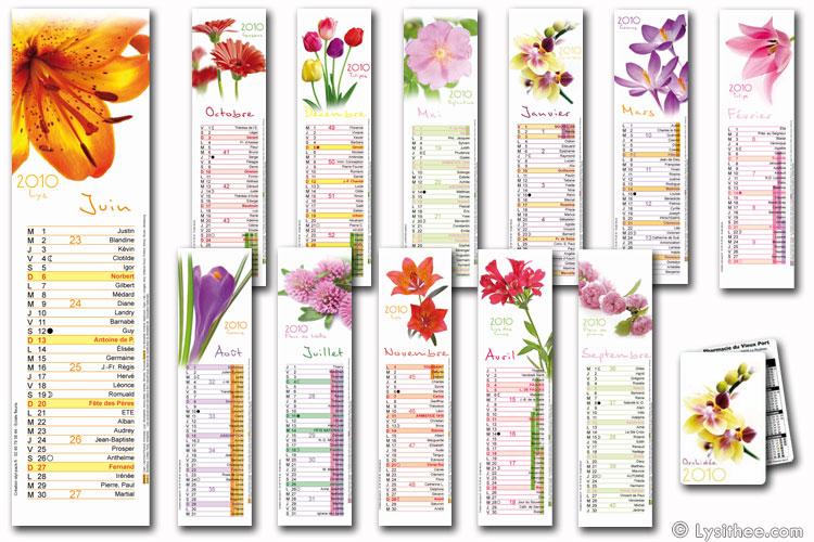 Calendrier Éclats Fleuris