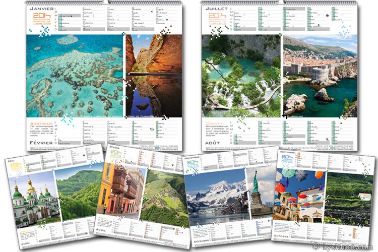 Calendrier Patrimoine Mondial de l'UNESCO