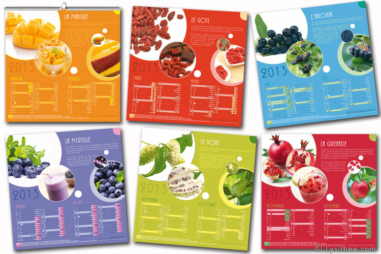 Calendrier Superfruits