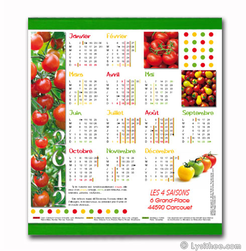Calendrier Tomates