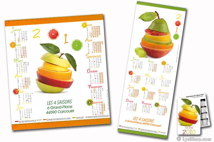 Calendrier Tutti Frutti