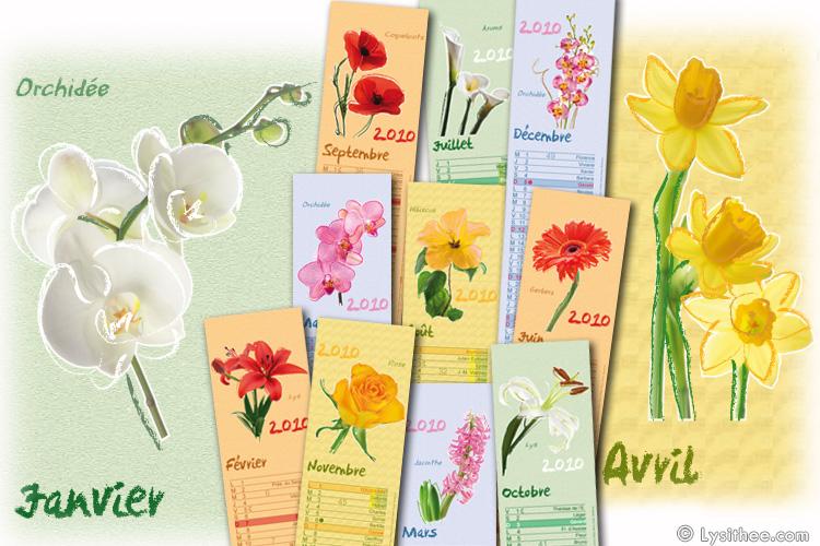 Calendrier Fleurs Pastel
