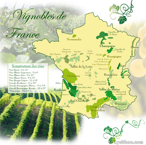 Cartes Vignobles France