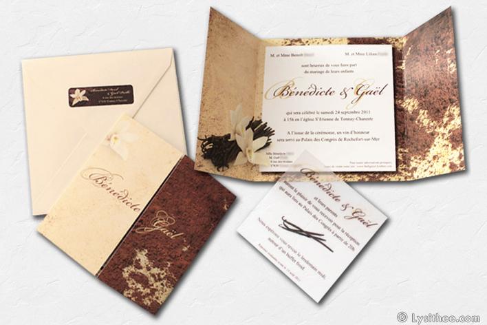 Faire-part Mariage Chocolat & Vanille