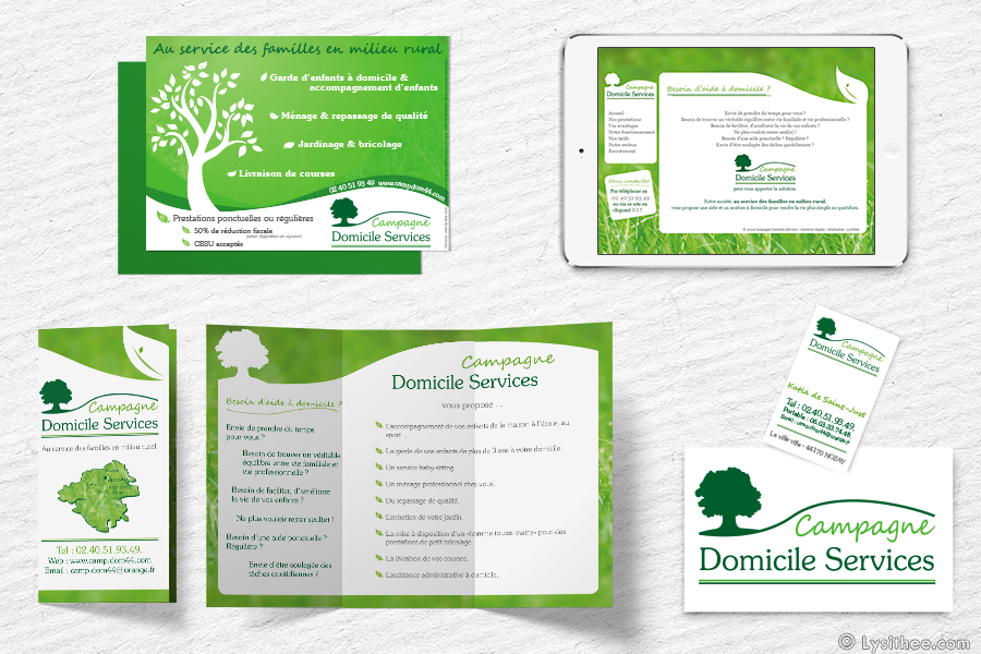 Brochure for Service a domicile jardinage