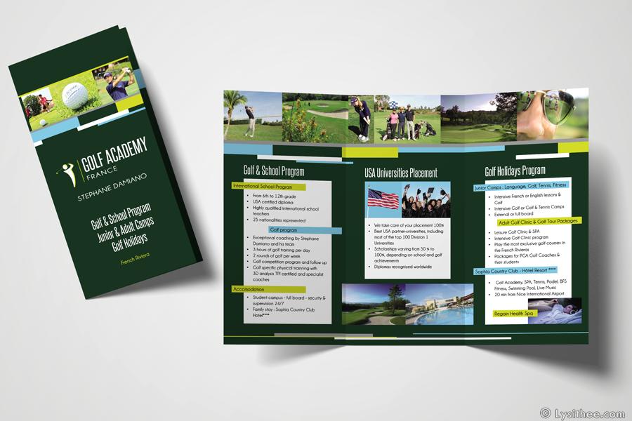 Dépliant Golf Academy