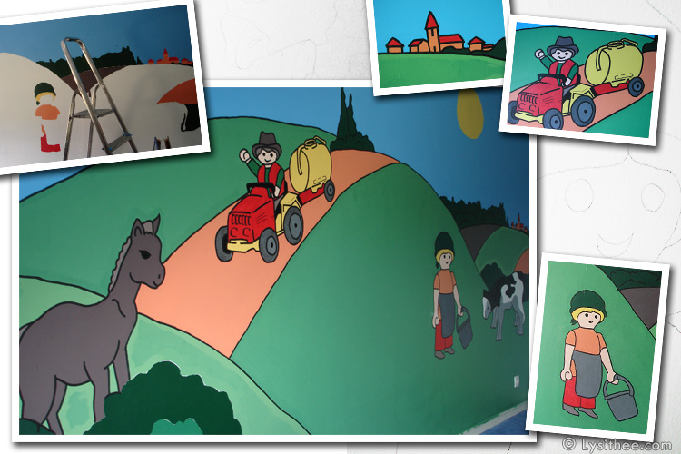 Fresque murale Playmobil