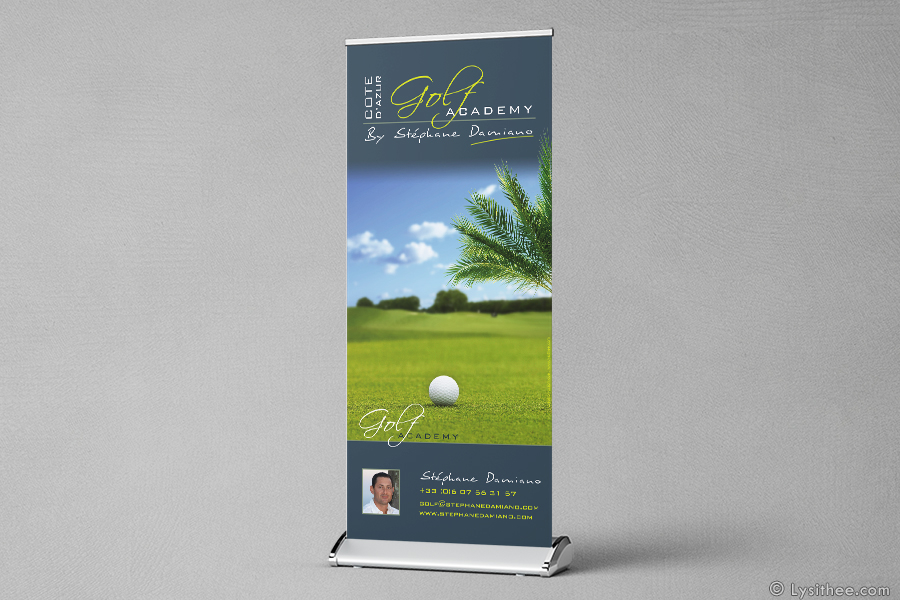 Kakemono (roll-up) de golf