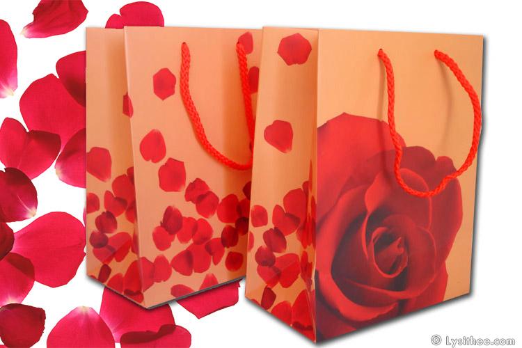 Sac cosmétique Rose rouge