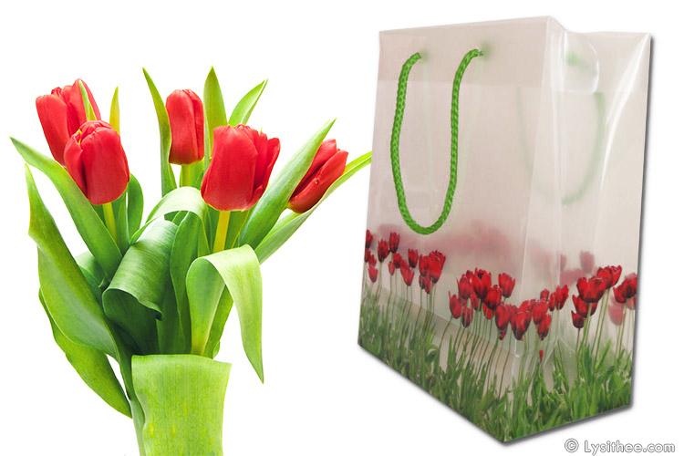 Sac cosmétique Tulipes