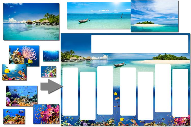 Iles tropicales, sur et sous l'eau