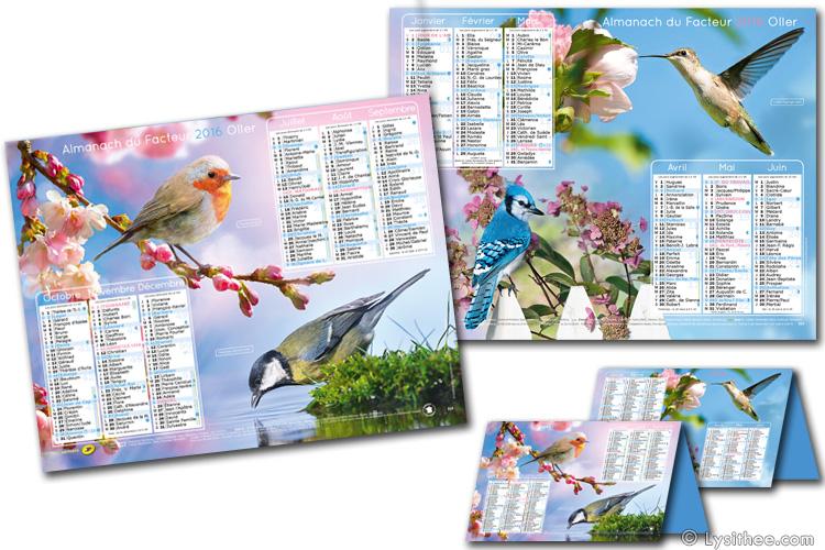 Calendrier de la Poste Oiseaux