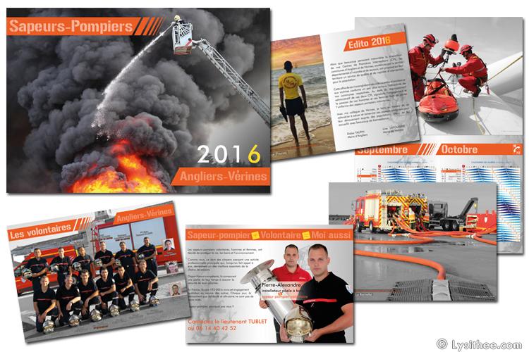 Calendrier Pompiers 2016