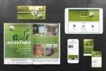 Identité, site web et pub presse Golf Atlantique