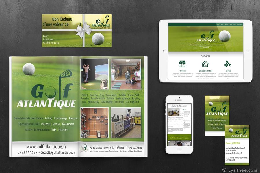 Affiche et pub presse Golf Atlantique
