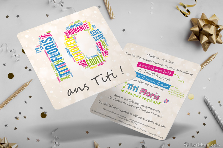 Invitation 10 ans Titi Floris