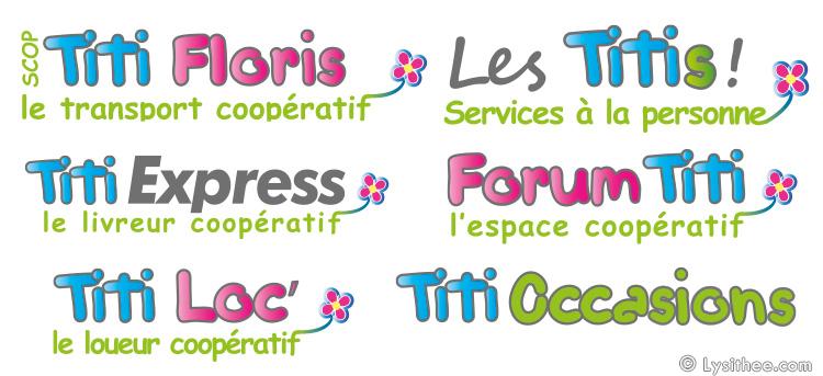 Logos des marques du groupe Les Titis !