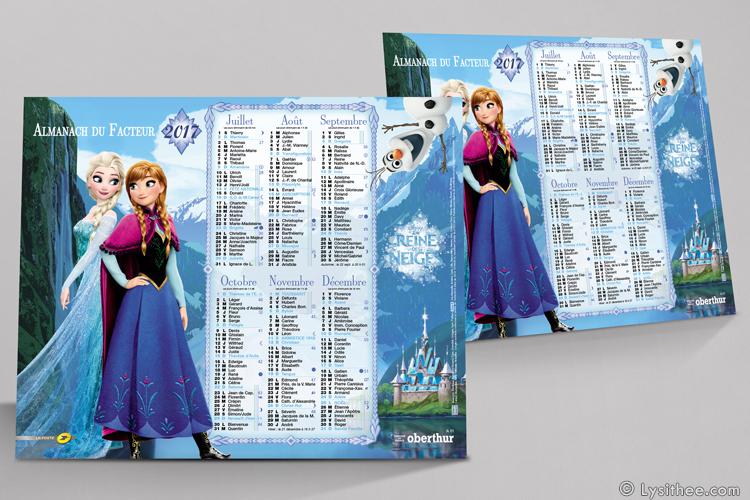 Calendrier de la Poste Reine des Neiges