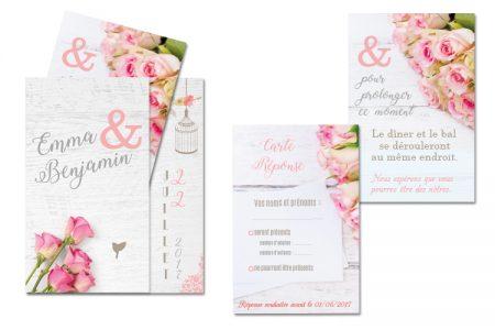 Mariage lysithe carton dinvitation au dner mariage romantique stopboris Images