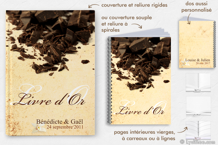 Livre d'or Mariage Chocolat & Vanille