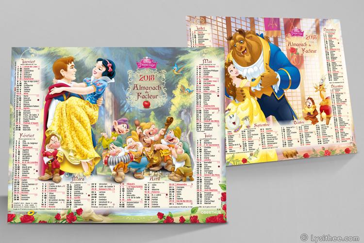 Calendrier de la Poste Disney