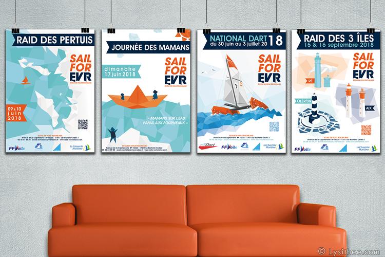 Posters Régates 2018 de l'EVR