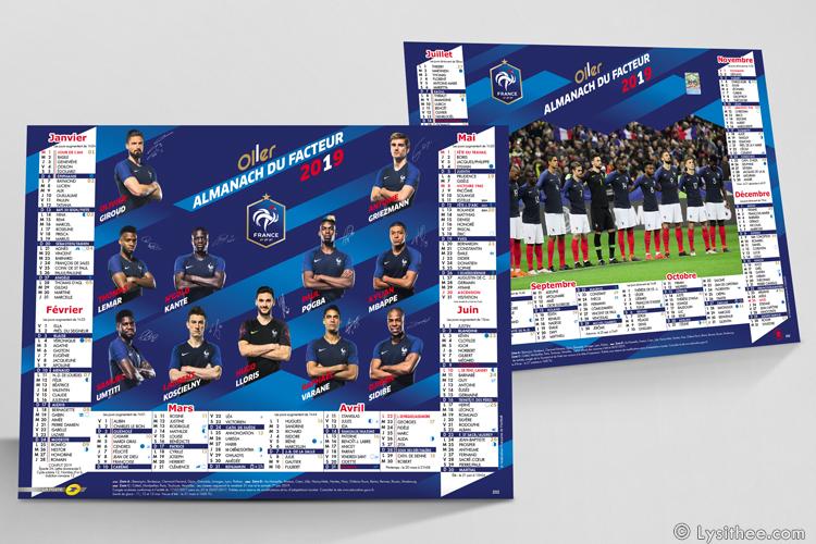 Calendrier de la Poste Equipe de France de Football