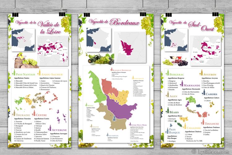 Cartes des vignobles de France