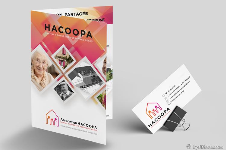 Logo et dépliant Hacoopa