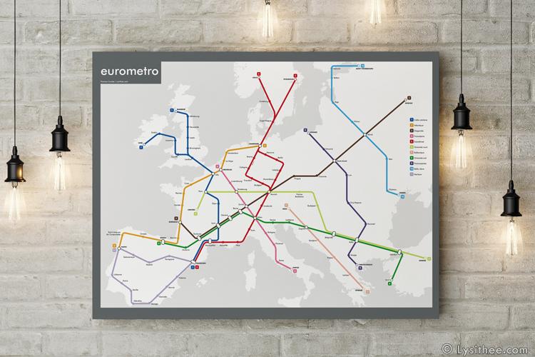 Plan de métro : Eurometro