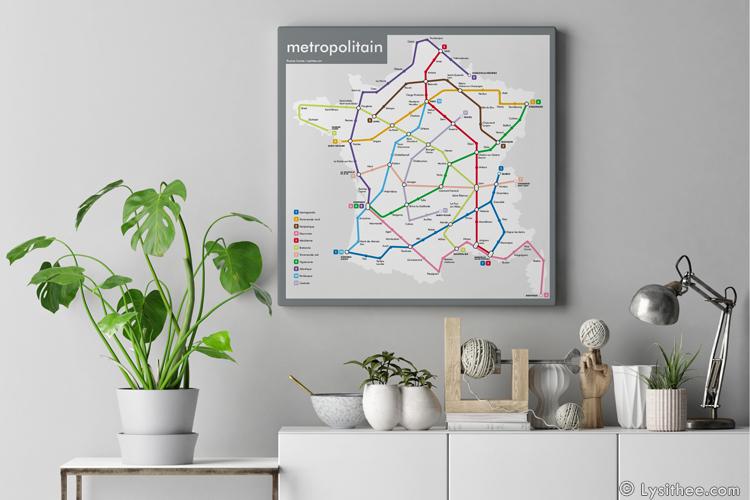 Plan de métro : Metropolitain