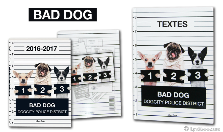Agenda et Caher de Textes Bad Dog