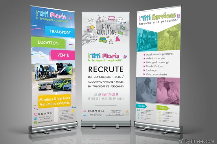 Kakemonos Titi Floris, Titi Job & Titi Services