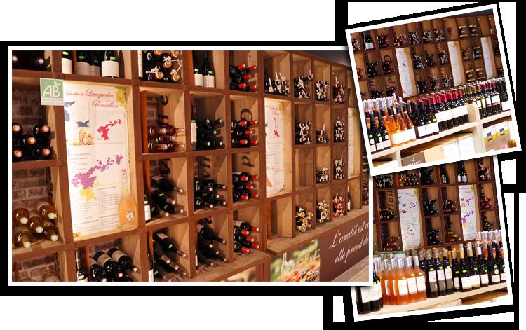 Cartes des vignobles au rayon Vins