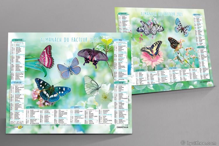 Calendrier de la Poste Papillons de Printemps