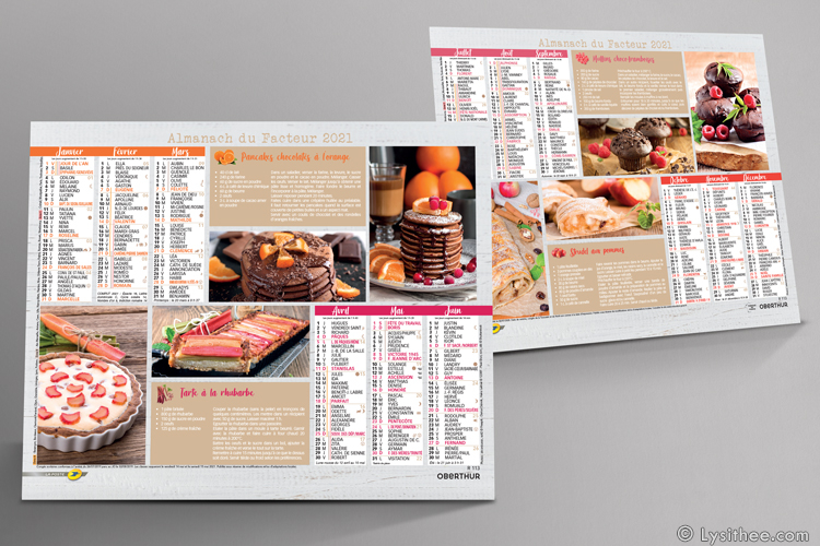 Calendrier de la Poste Saveurs Gourmandes