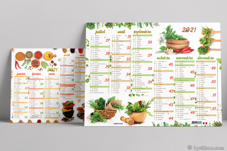 Calendrier Herbes & Epices