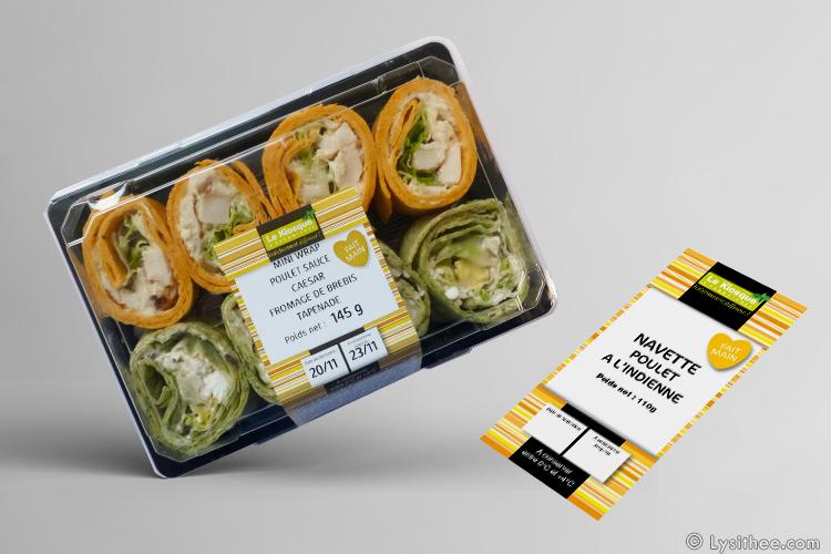 Packaging snacking à base de poulet