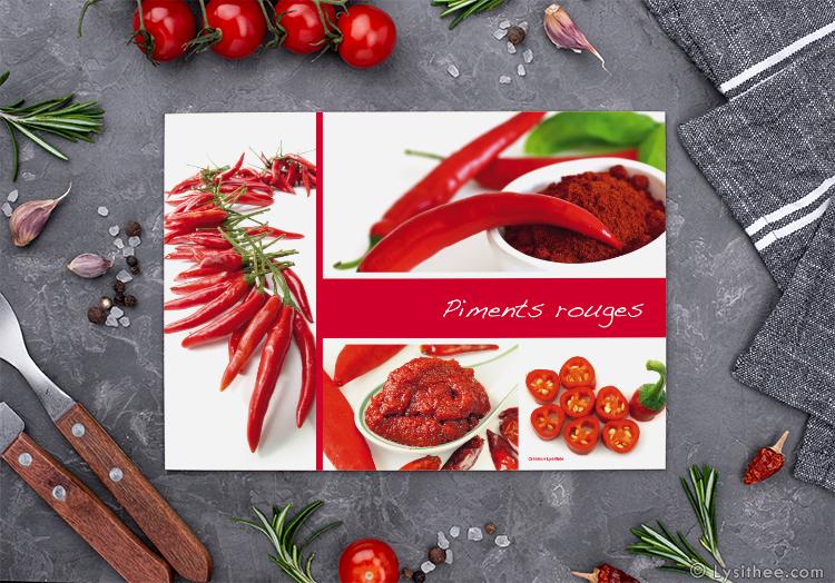 Set de table Piments rouges