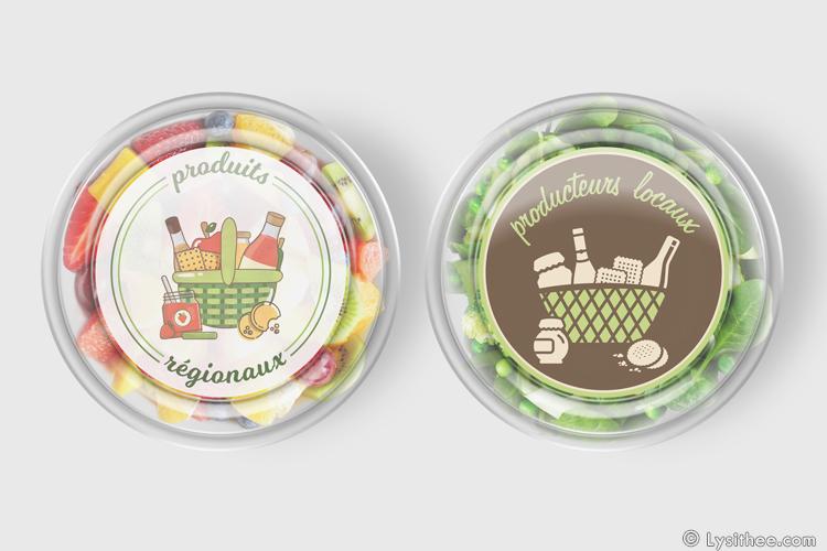 """Stickers """"produits régionaux"""" et """"producteurs locaux"""""""
