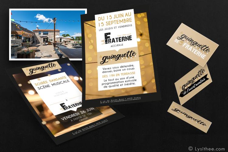 Logo et gabarits affiches soirées Guinguette