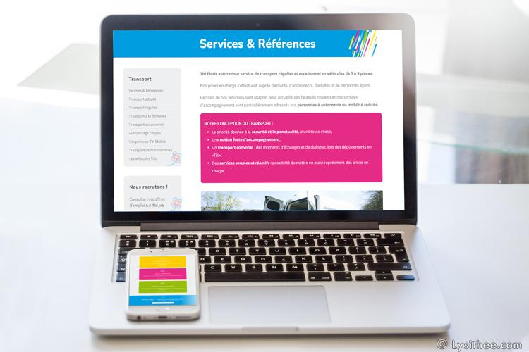 Site web Titi Floris